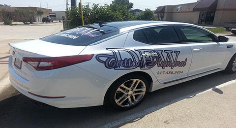 Car Wraps and Car Graphics in Frisco TX, Carrollton TX, DFW, Plano TX