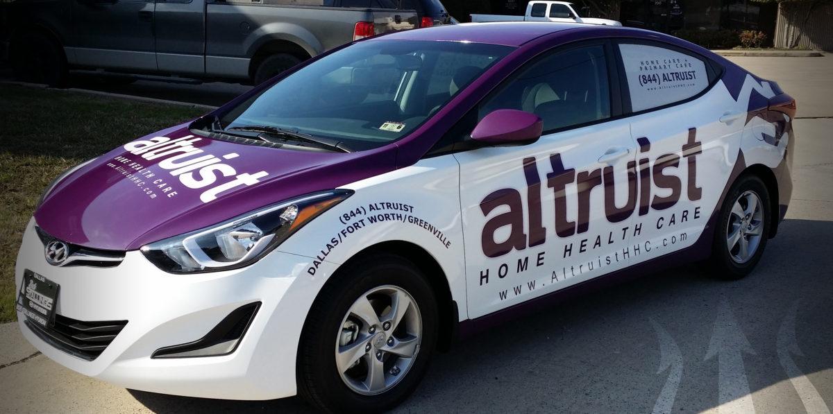 Car Wraps in Dallas, TX, DFW, Frisco, TX, Carrollton, TX, Plano, TX